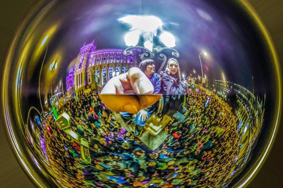 fotografia 360 grados manifestación mujeres madrid