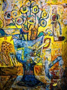 perfume del vino - Pintura Contemporánea Nicaragüense (10)