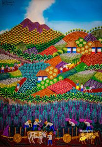 perfume del vino - Pintura Contemporánea Nicaragüense (16)