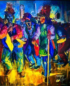 perfume del vino - Pintura Contemporánea Nicaragüense (9)