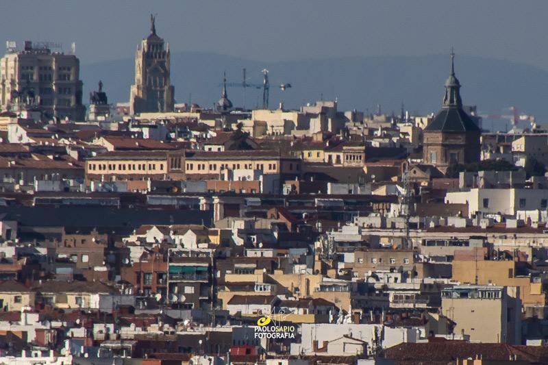 fotografía con teleobjetivo de Madrid